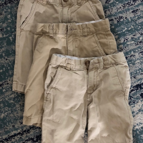Children/'s Place Boys Gray Dress Shorts Adjustable Waist Shorts 18 S EUC